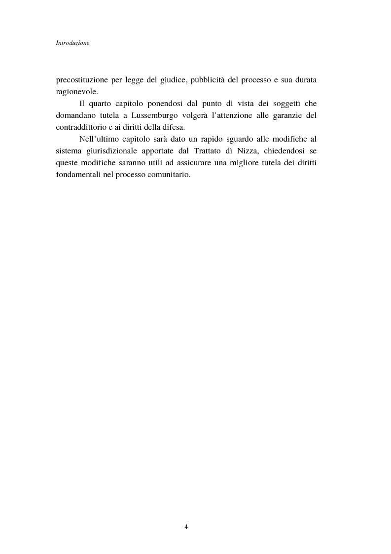 Anteprima della tesi: I diritti fondamentali nel processo comunitario, Pagina 4
