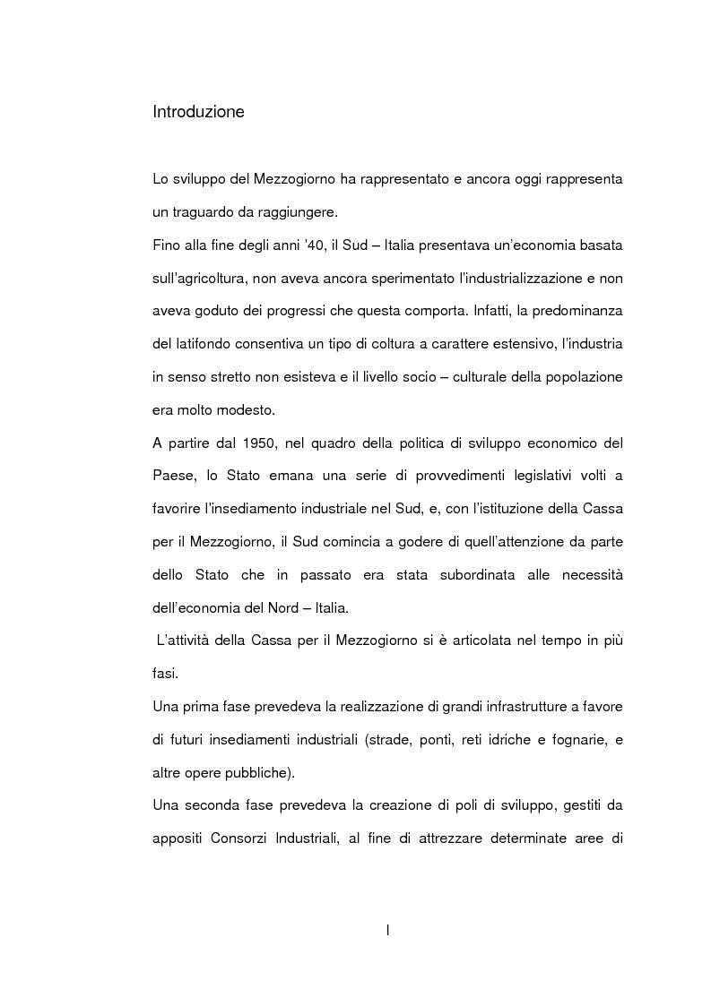 Anteprima della tesi: Un caso di sviluppo industriale: Gela e la sua area, Pagina 1