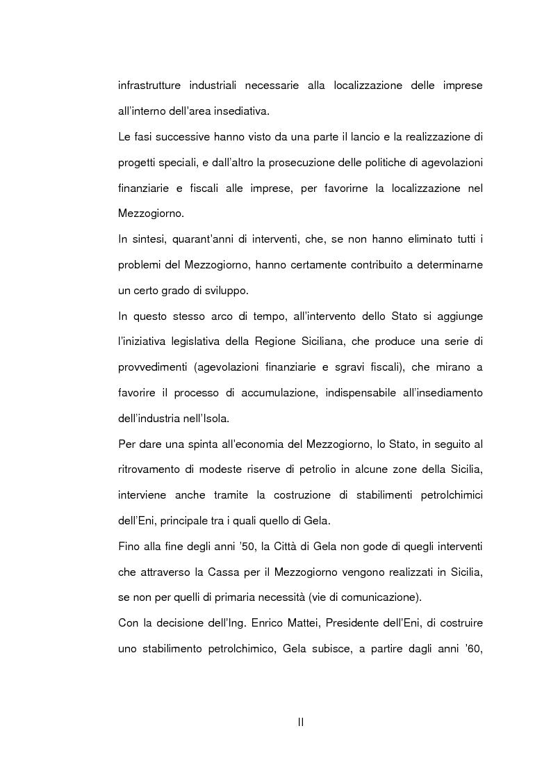 Anteprima della tesi: Un caso di sviluppo industriale: Gela e la sua area, Pagina 2