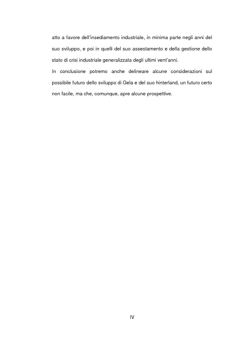 Anteprima della tesi: Un caso di sviluppo industriale: Gela e la sua area, Pagina 4