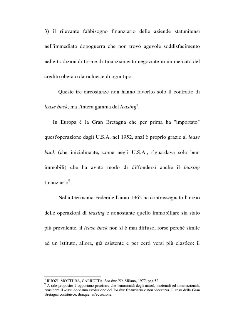 Anteprima della tesi: Profili giuridici del sale and lease back, Pagina 10