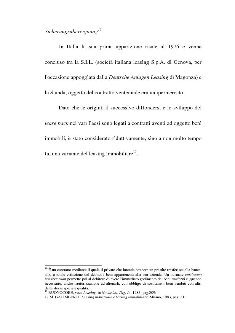 Anteprima della tesi: Profili giuridici del sale and lease back, Pagina 11