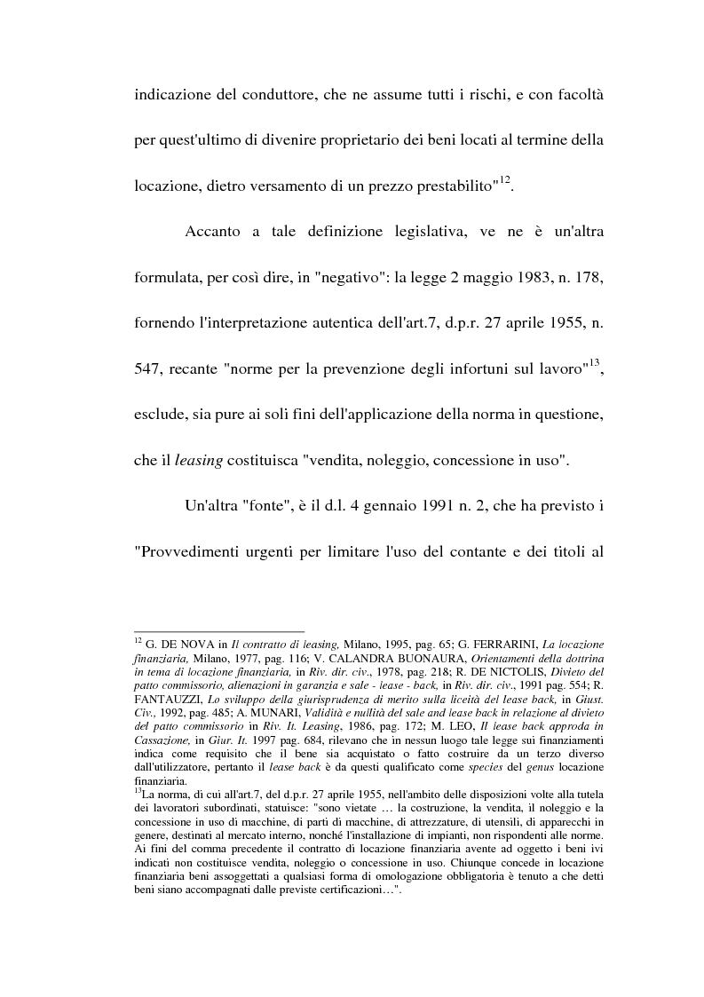 Anteprima della tesi: Profili giuridici del sale and lease back, Pagina 13