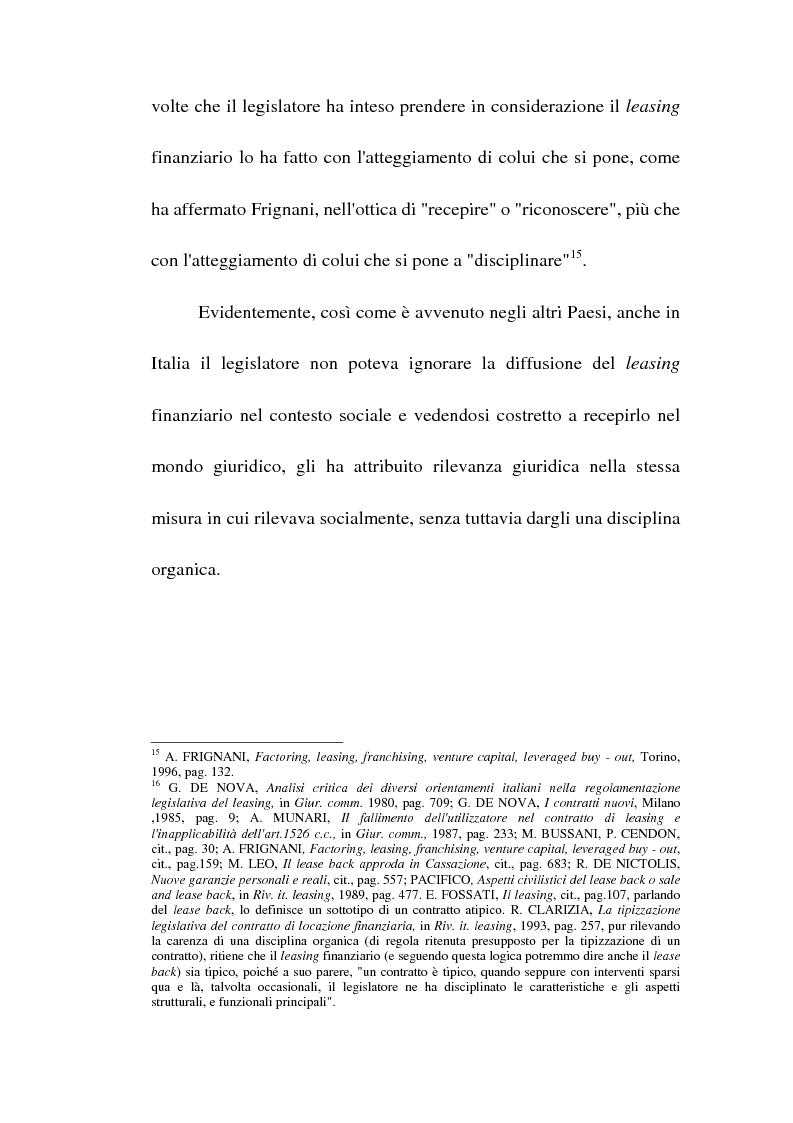 Anteprima della tesi: Profili giuridici del sale and lease back, Pagina 15