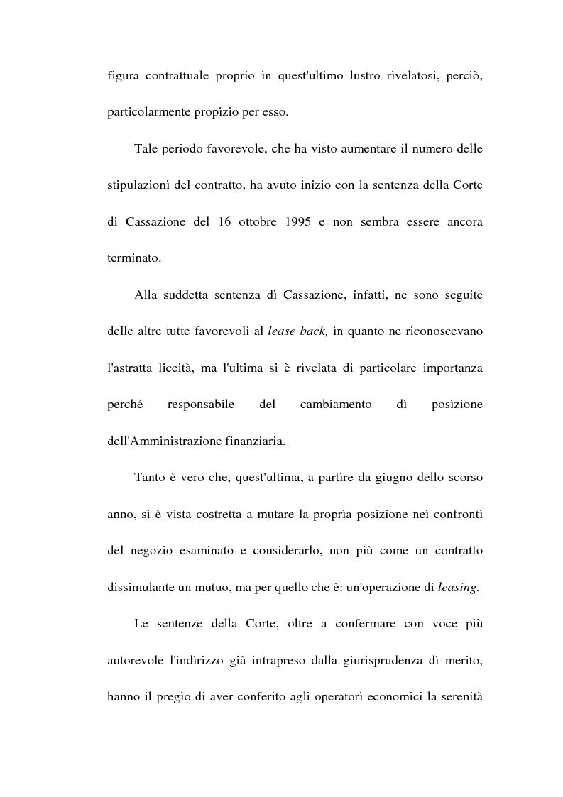 Anteprima della tesi: Profili giuridici del sale and lease back, Pagina 3