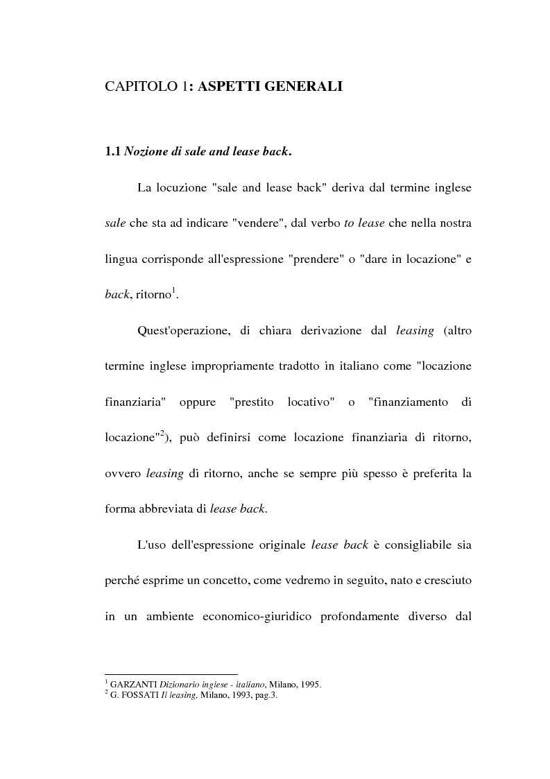 Anteprima della tesi: Profili giuridici del sale and lease back, Pagina 6