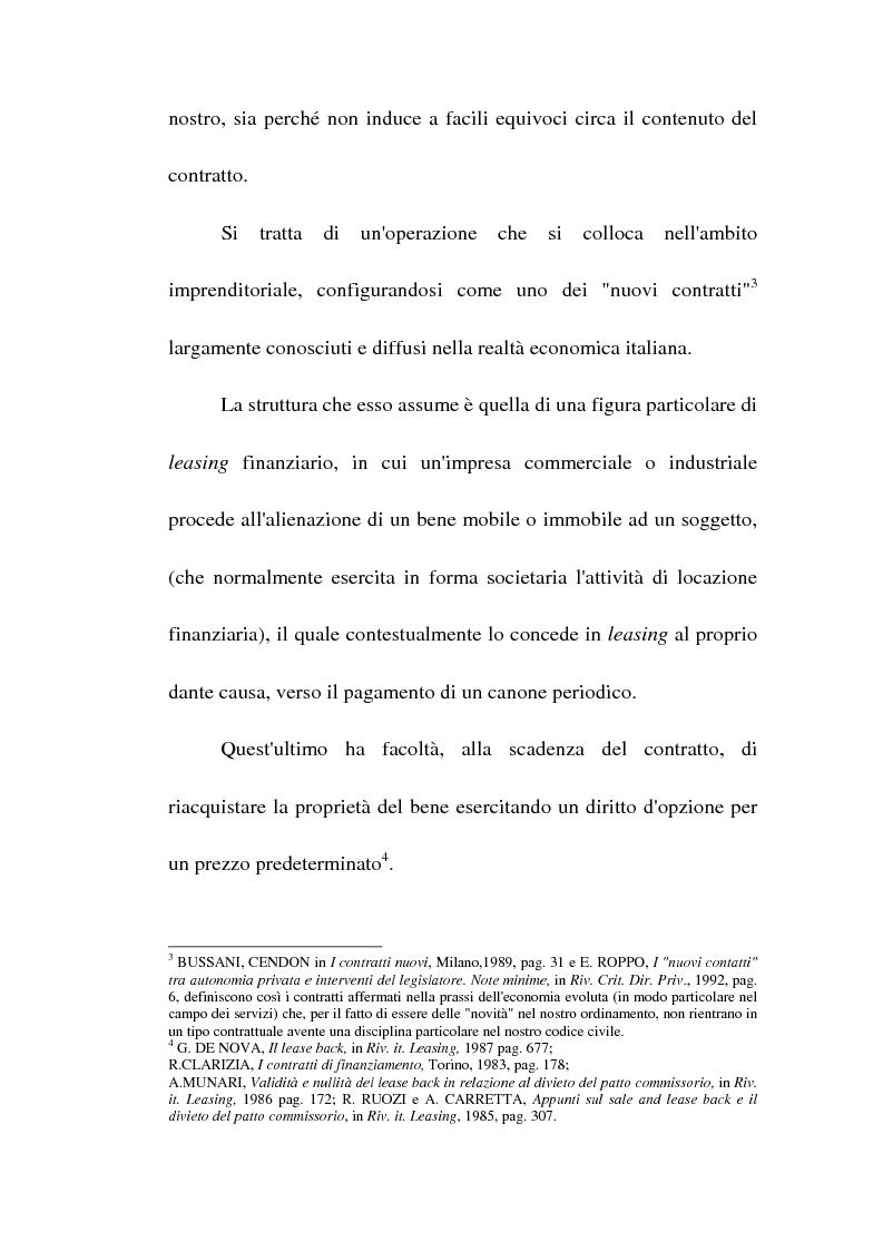 Anteprima della tesi: Profili giuridici del sale and lease back, Pagina 7