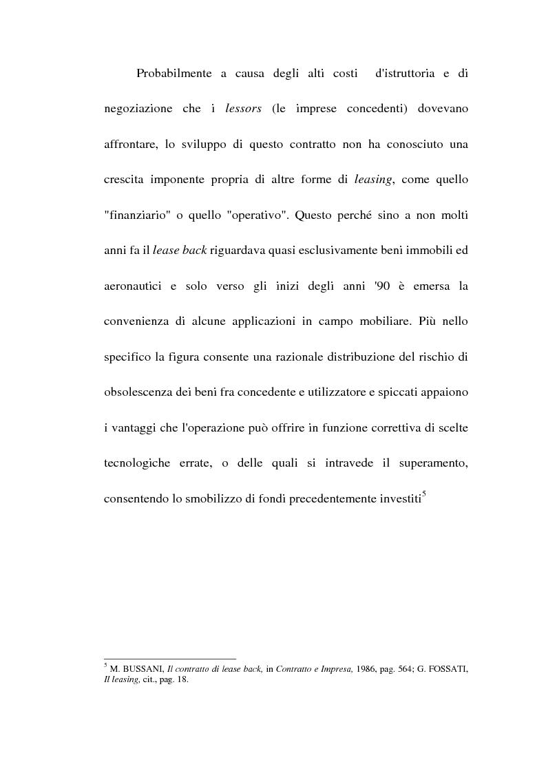 Anteprima della tesi: Profili giuridici del sale and lease back, Pagina 8