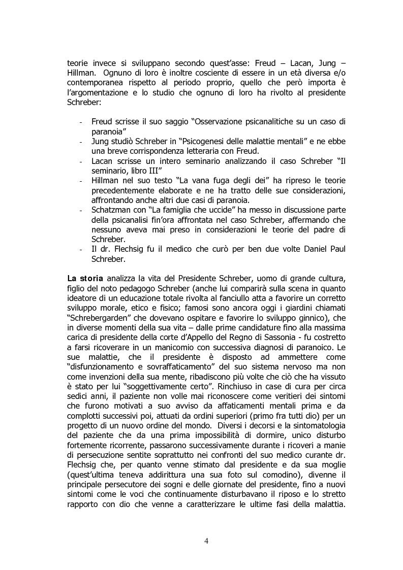 Anteprima della tesi: Analisi di un delirio. Intorno a Schreber, Pagina 3