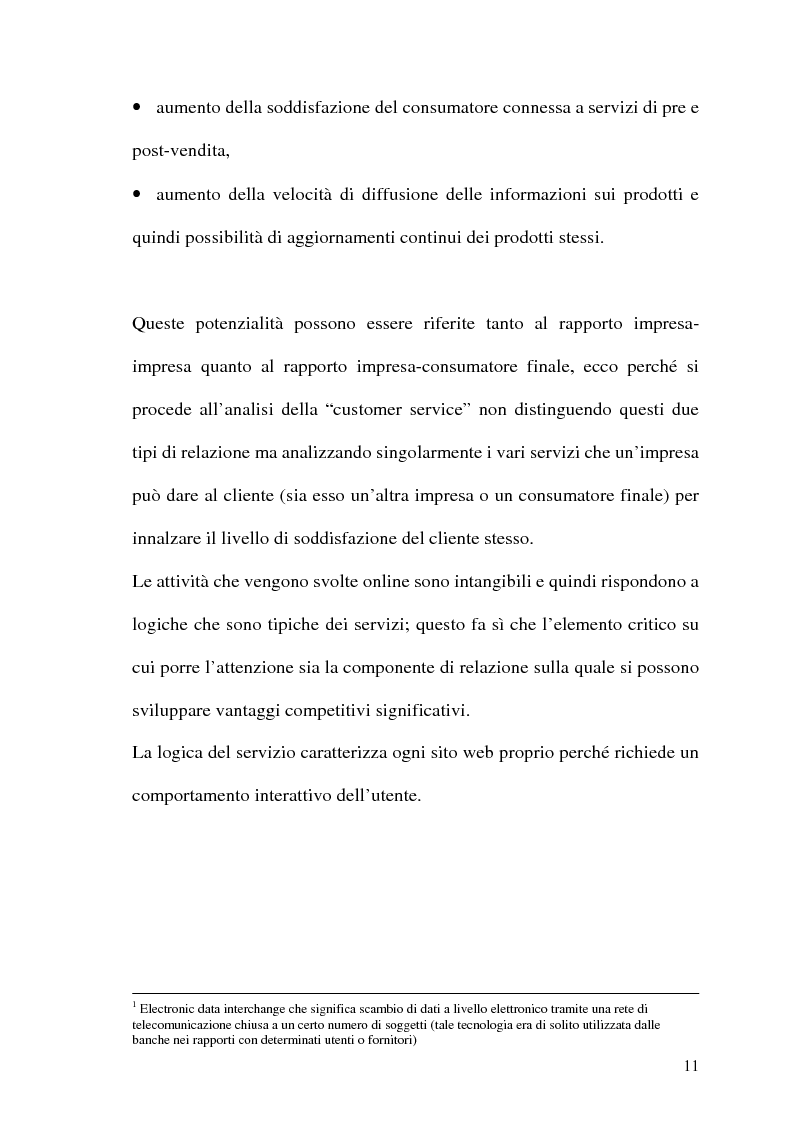 Anteprima della tesi: Rafforzare l'efficacia delle imprese Internet based attraverso l'Electronic Customer Relationship Management, Pagina 10