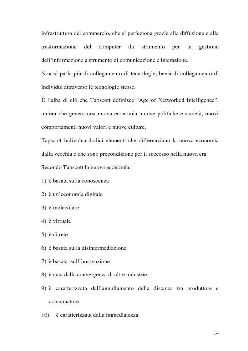 Anteprima della tesi: Rafforzare l'efficacia delle imprese Internet based attraverso l'Electronic Customer Relationship Management, Pagina 13
