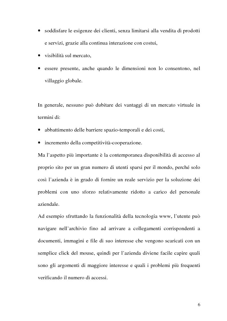 Anteprima della tesi: Rafforzare l'efficacia delle imprese Internet based attraverso l'Electronic Customer Relationship Management, Pagina 5