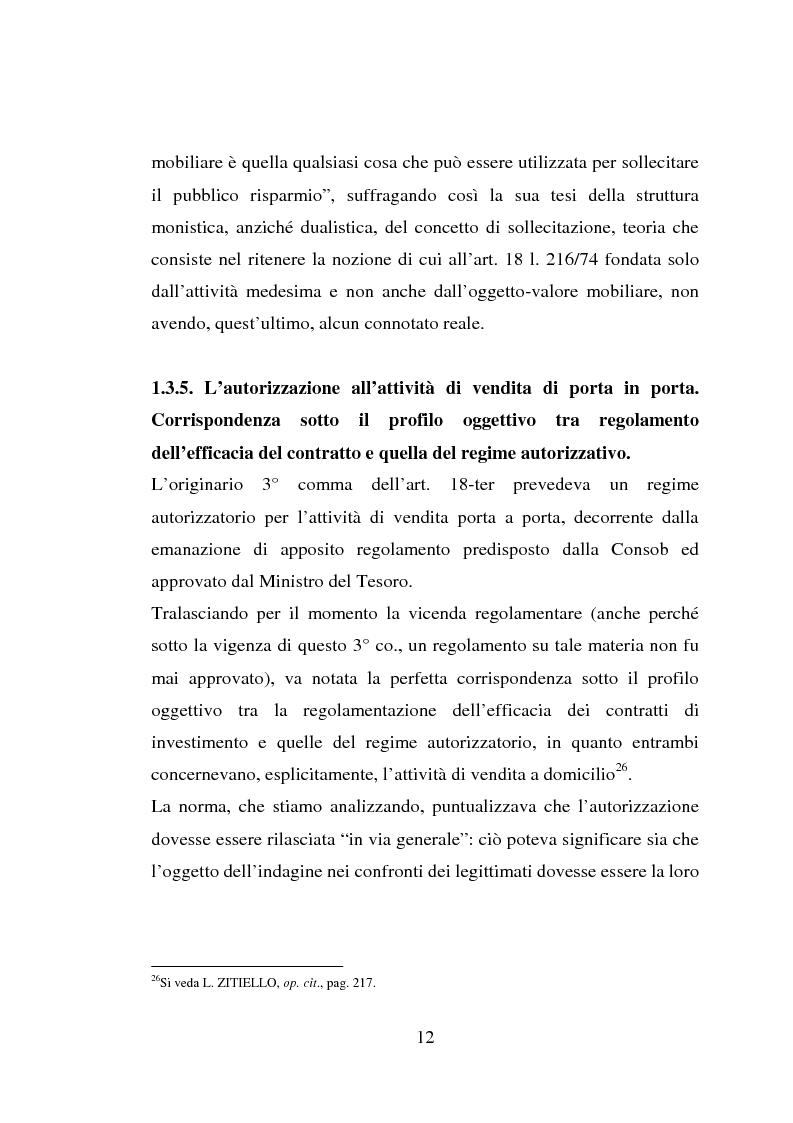 Anteprima della tesi: La vendita porta a porta, Pagina 12