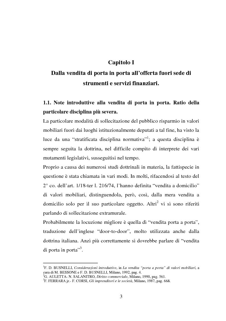 Anteprima della tesi: La vendita porta a porta, Pagina 3