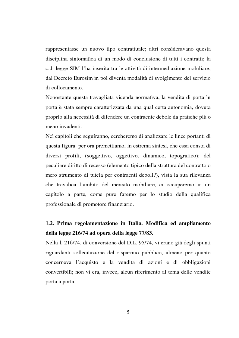 Anteprima della tesi: La vendita porta a porta, Pagina 5