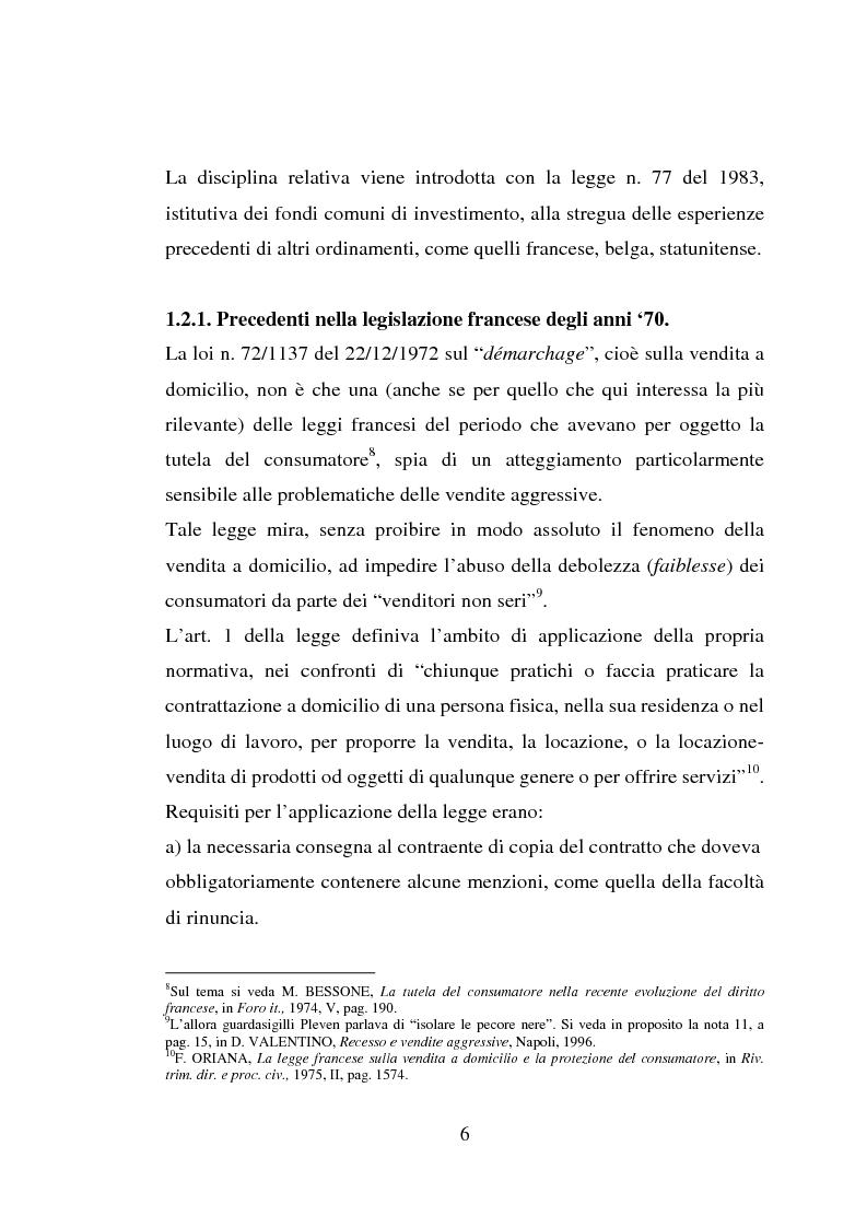 Anteprima della tesi: La vendita porta a porta, Pagina 6