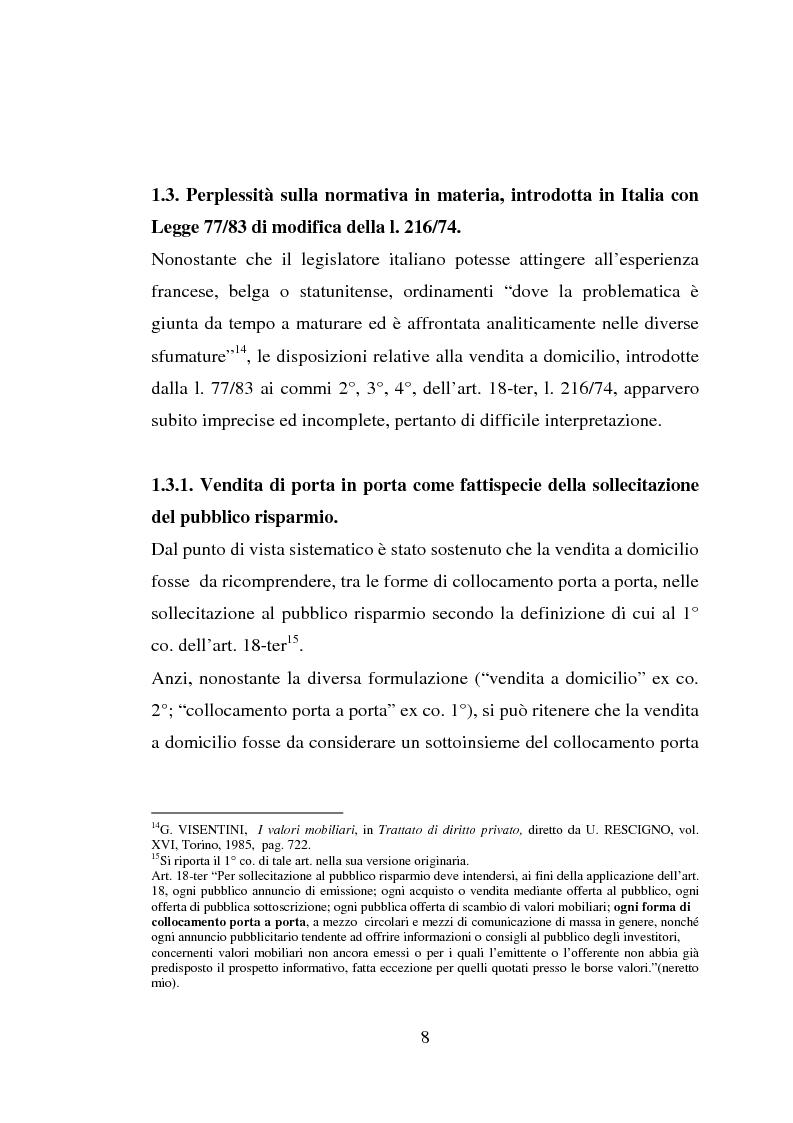 Anteprima della tesi: La vendita porta a porta, Pagina 8