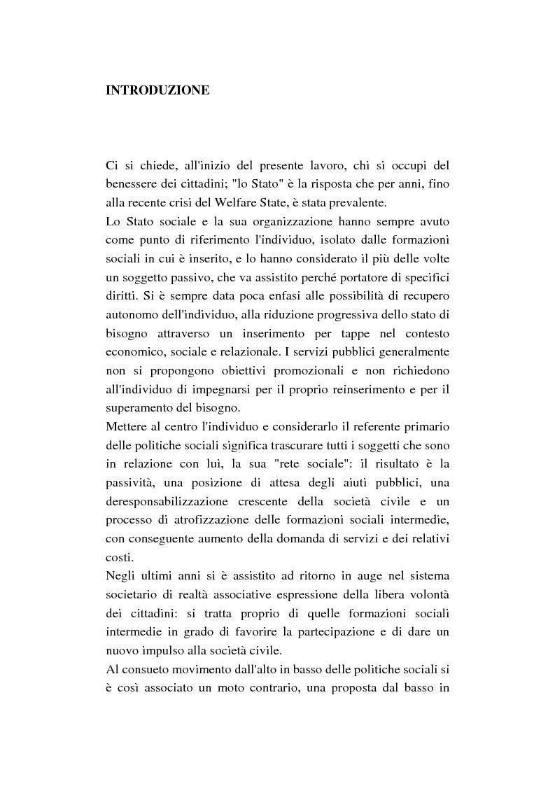 Anteprima della tesi: La cura di comunità come modello operativo di un nuovo sistema dei servizi: uno studio di caso, Pagina 1