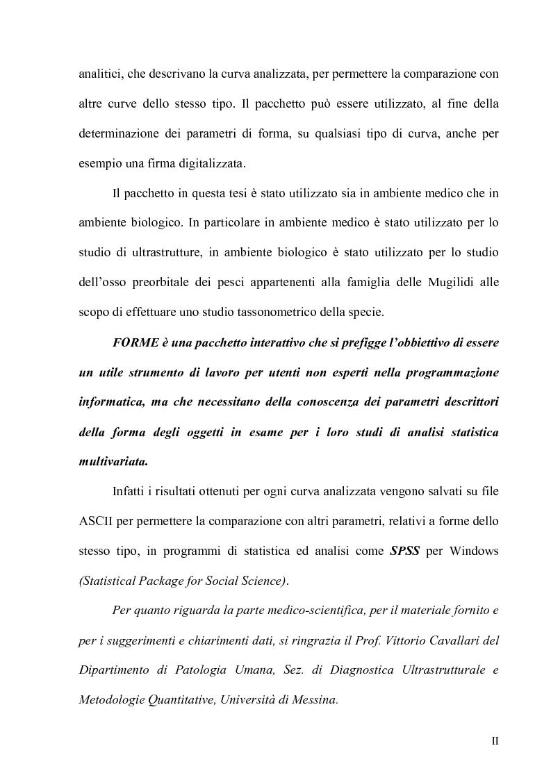 Anteprima della tesi: Forme - Un pacchetto interattivo per l'analisi di curve, Pagina 2