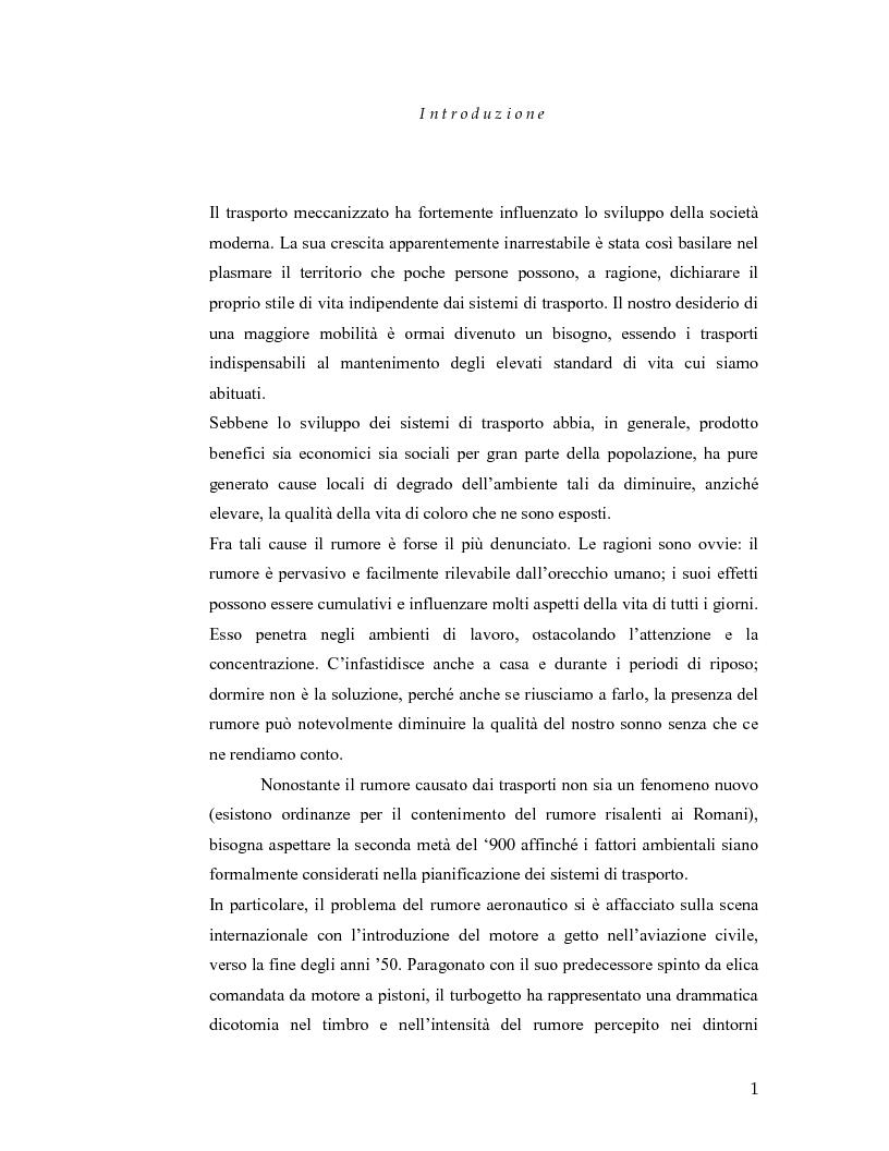 Anteprima della tesi: Aeroporto di Linate: utilizzo dell'Integrated Noise Model per prevedere il rumore generato dai decolli di MD82, Pagina 1