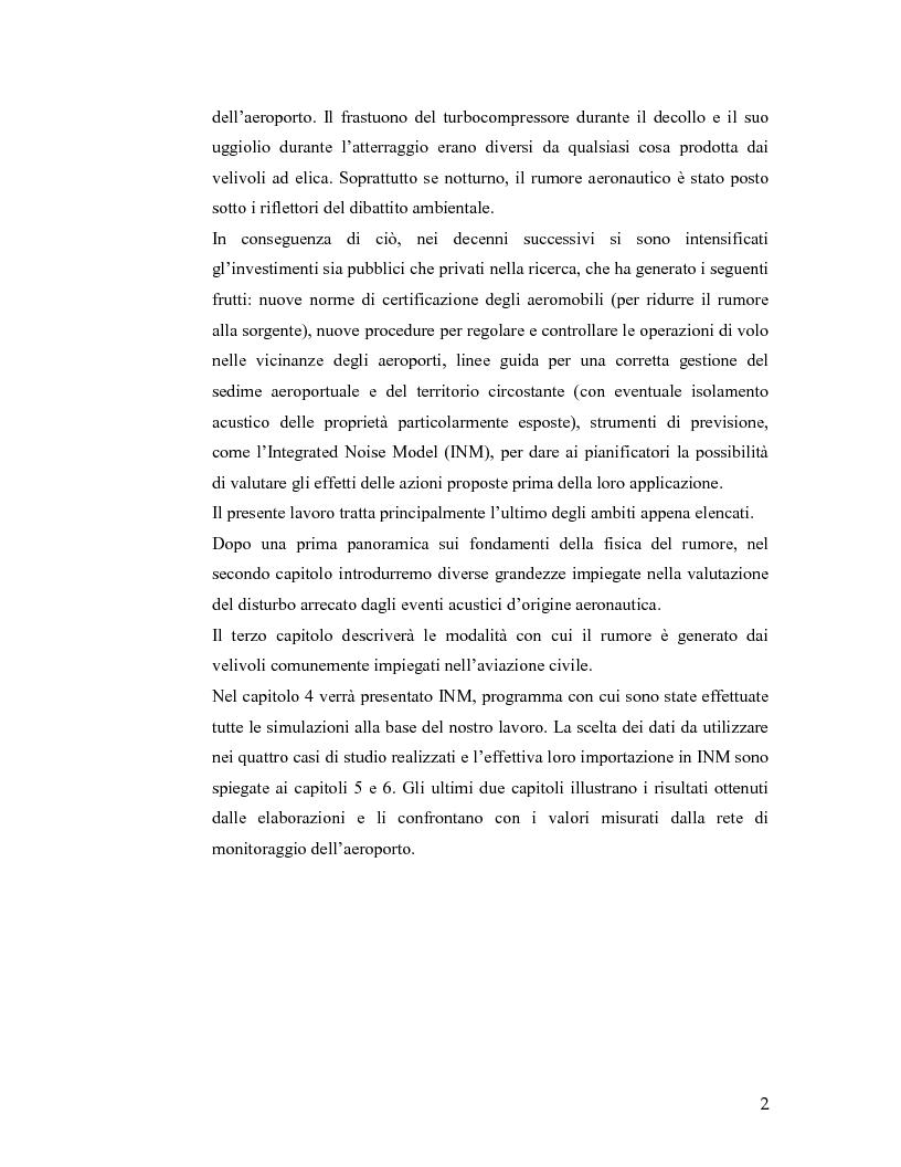 Anteprima della tesi: Aeroporto di Linate: utilizzo dell'Integrated Noise Model per prevedere il rumore generato dai decolli di MD82, Pagina 2