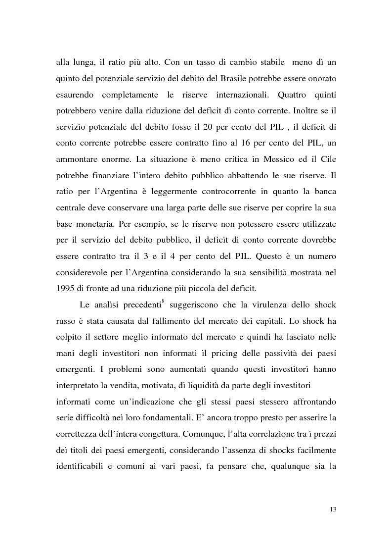 Anteprima della tesi: La crisi finanziaria russa e l'impatto sul sistema bancario internazionale, Pagina 13