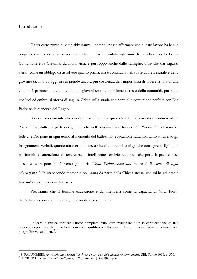 Anteprima della tesi: Essere coppia: dono della Chiesa, per la Chiesa, nella Chiesa, Pagina 6