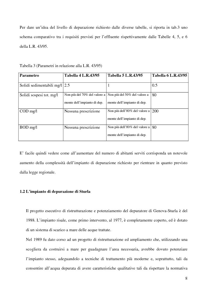Anteprima della tesi: La deodorizzazione dell'aria in impianti di trattamento dei reflui urbani: il caso del nuovo impianto di Sturla a Genova, Pagina 4