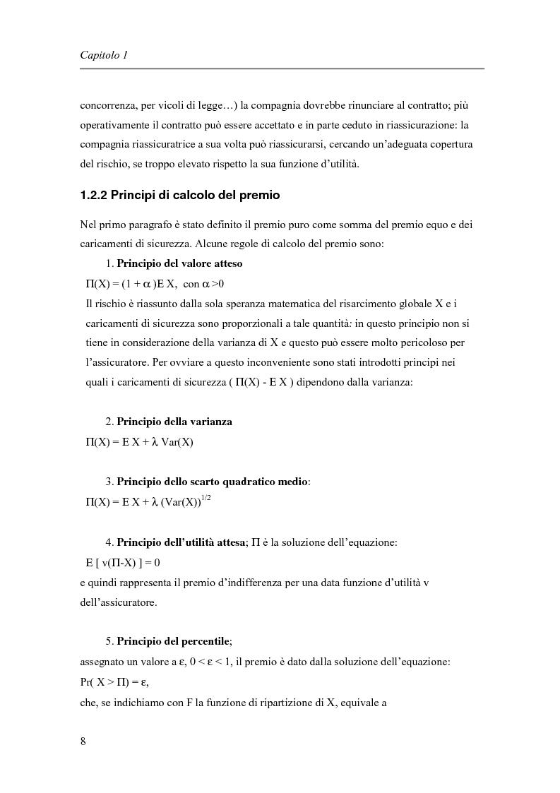 Anteprima della tesi: Approccio finanziario per il calcolo del premio assicurativo, Pagina 10