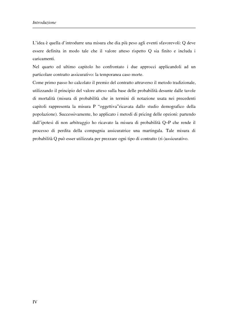 Anteprima della tesi: Approccio finanziario per il calcolo del premio assicurativo, Pagina 2