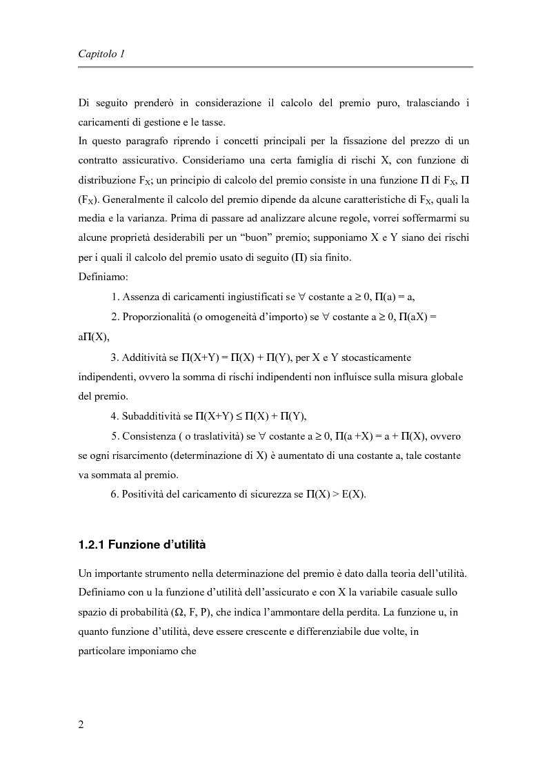Anteprima della tesi: Approccio finanziario per il calcolo del premio assicurativo, Pagina 4