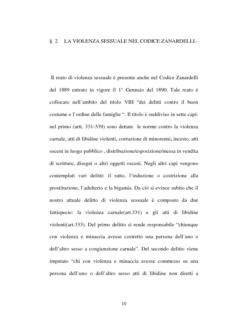 Anteprima della tesi: L'art. 609/bis c.p.: la violenza sessuale, Pagina 10