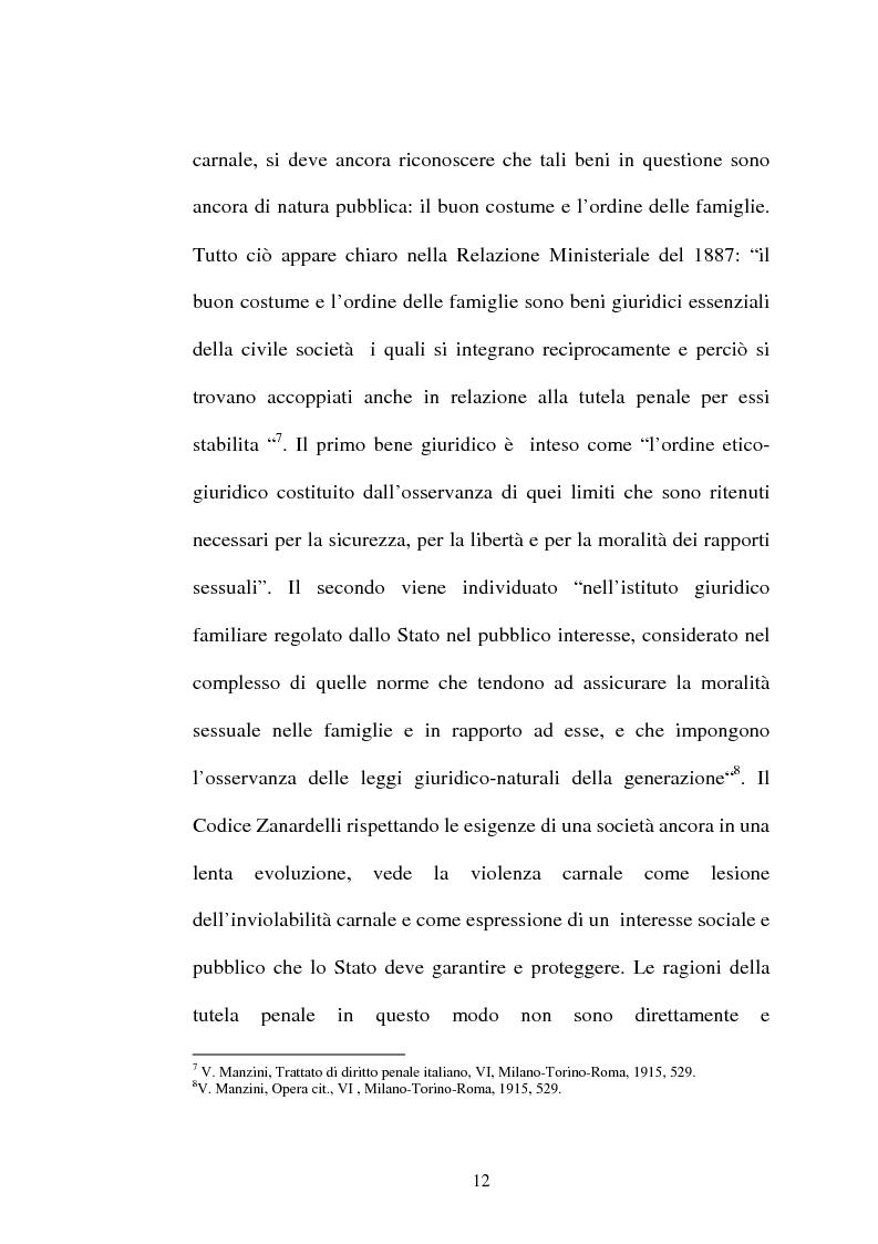 Anteprima della tesi: L'art. 609/bis c.p.: la violenza sessuale, Pagina 12