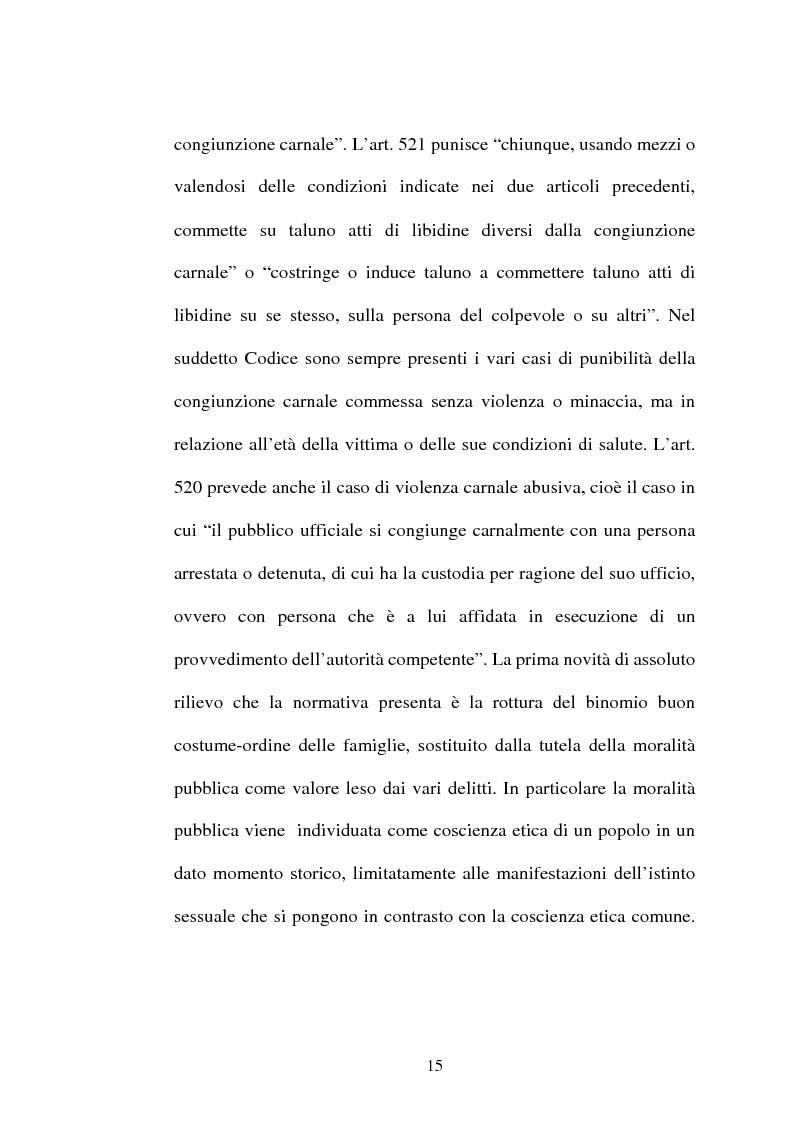 Anteprima della tesi: L'art. 609/bis c.p.: la violenza sessuale, Pagina 15