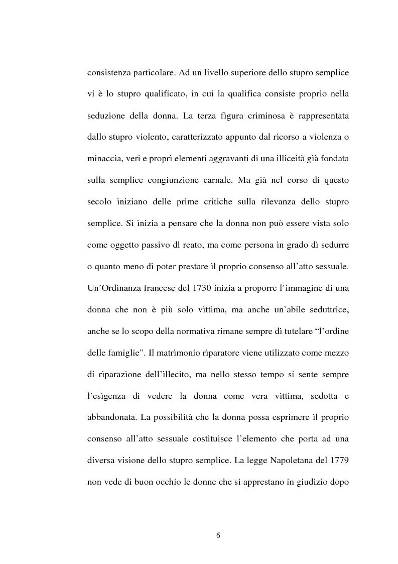 Anteprima della tesi: L'art. 609/bis c.p.: la violenza sessuale, Pagina 6