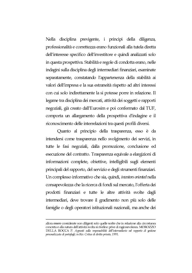 Anteprima della tesi: Obblighi di comportamento e responsabilità degli intermediari finanziari, Pagina 12
