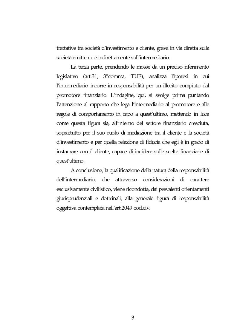 Anteprima della tesi: Obblighi di comportamento e responsabilità degli intermediari finanziari, Pagina 3