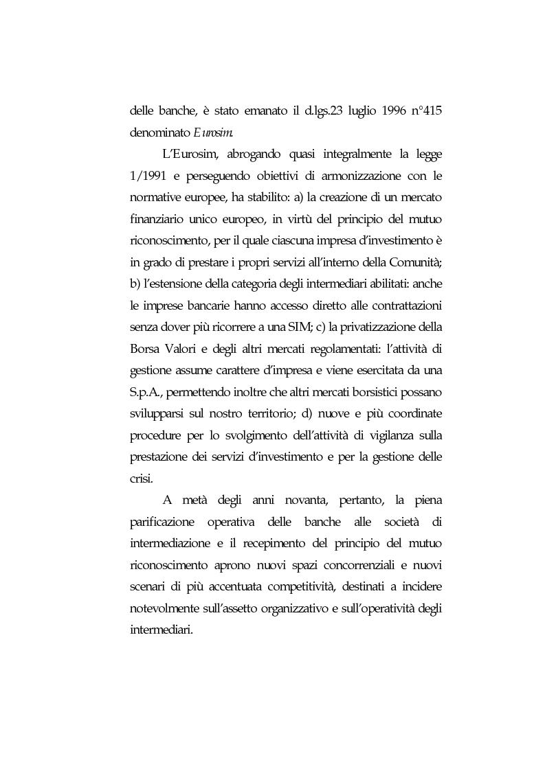 Anteprima della tesi: Obblighi di comportamento e responsabilità degli intermediari finanziari, Pagina 6