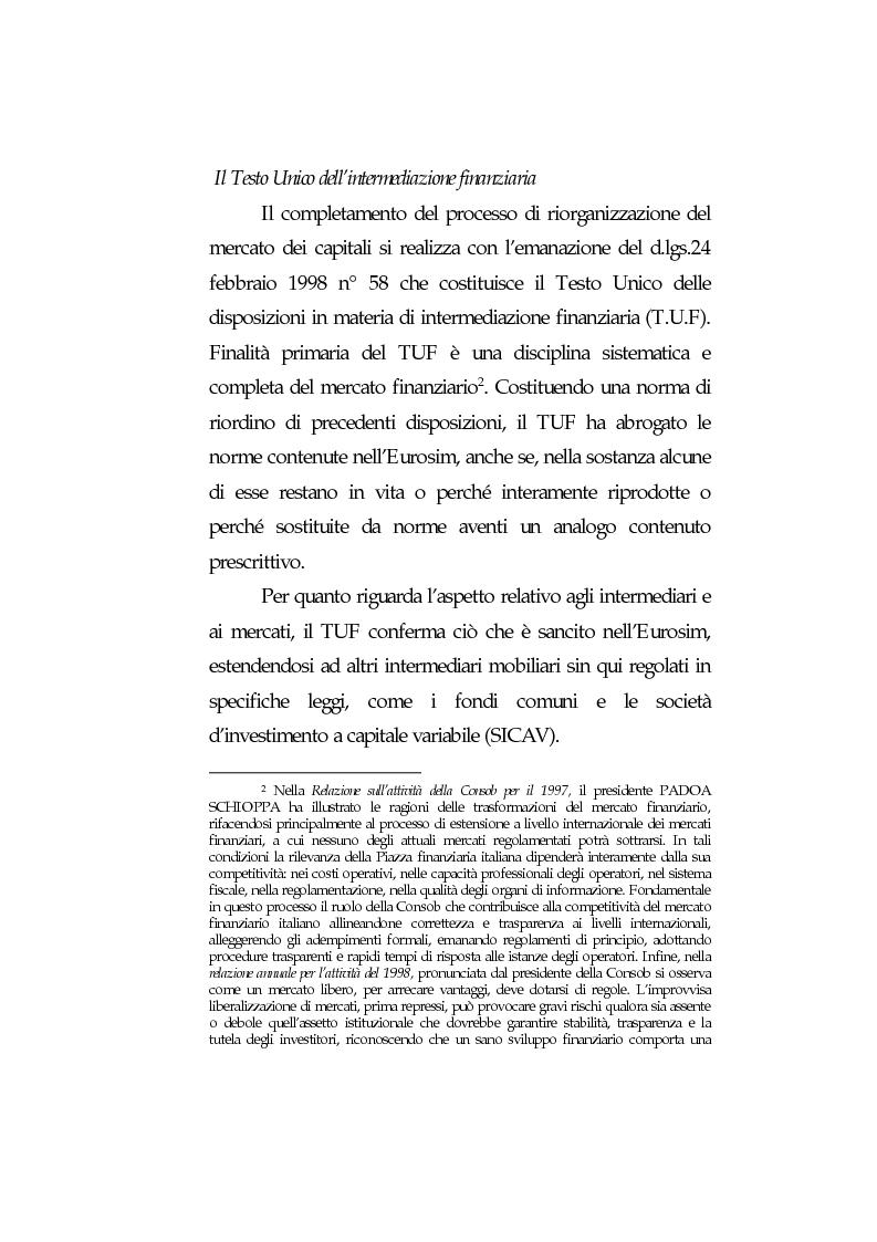 Anteprima della tesi: Obblighi di comportamento e responsabilità degli intermediari finanziari, Pagina 7