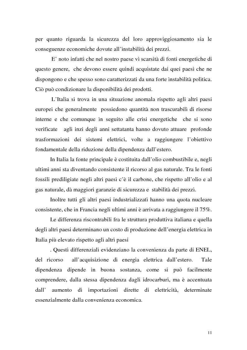 Anteprima della tesi: La liberalizzazione del settore elettrico: analisi e prospettive concorrenziali, Pagina 14