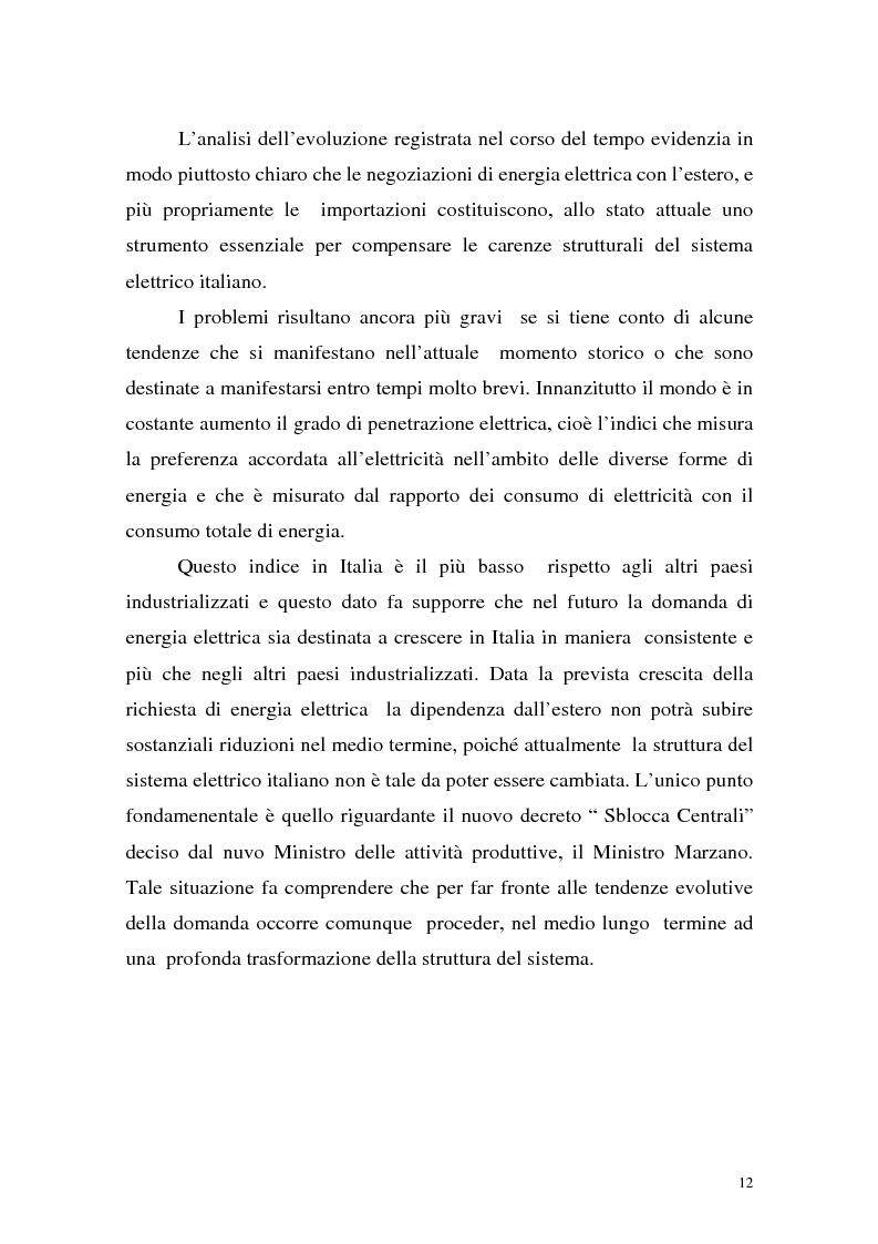 Anteprima della tesi: La liberalizzazione del settore elettrico: analisi e prospettive concorrenziali, Pagina 15