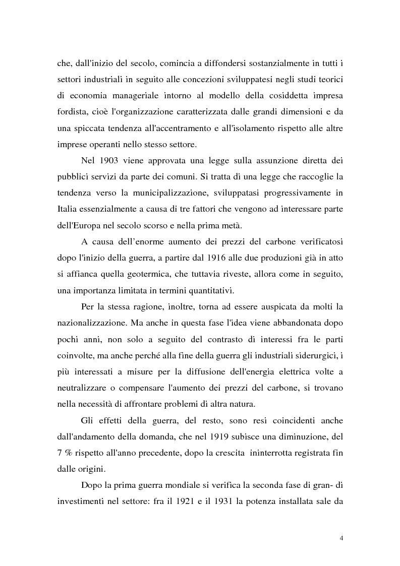 Anteprima della tesi: La liberalizzazione del settore elettrico: analisi e prospettive concorrenziali, Pagina 7