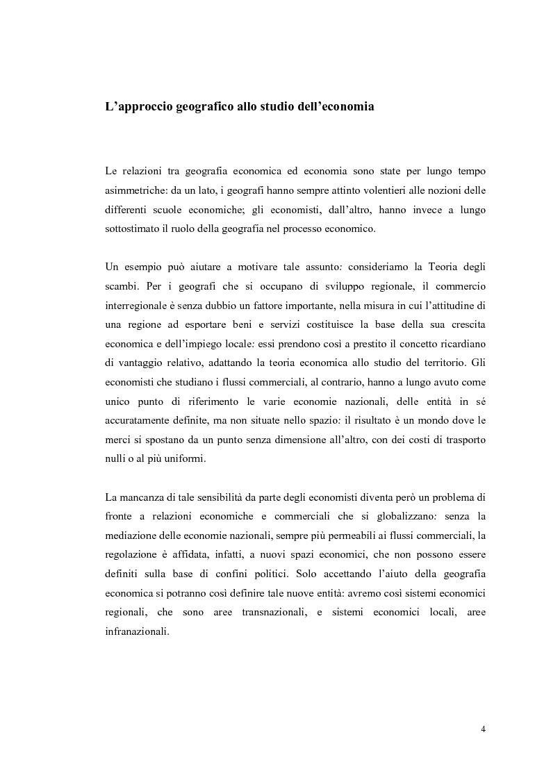Anteprima della tesi: I distretti industriali: un confronto tra l'esperienza italiana e quella francese, Pagina 1