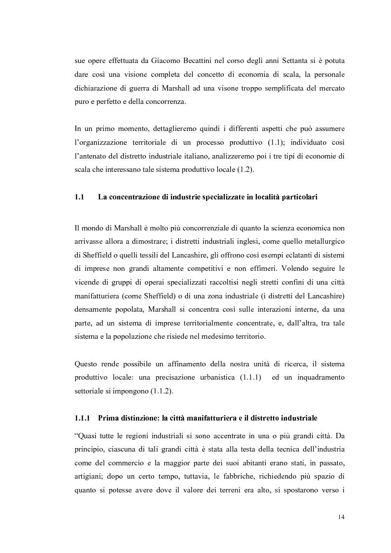 Anteprima della tesi: I distretti industriali: un confronto tra l'esperienza italiana e quella francese, Pagina 11
