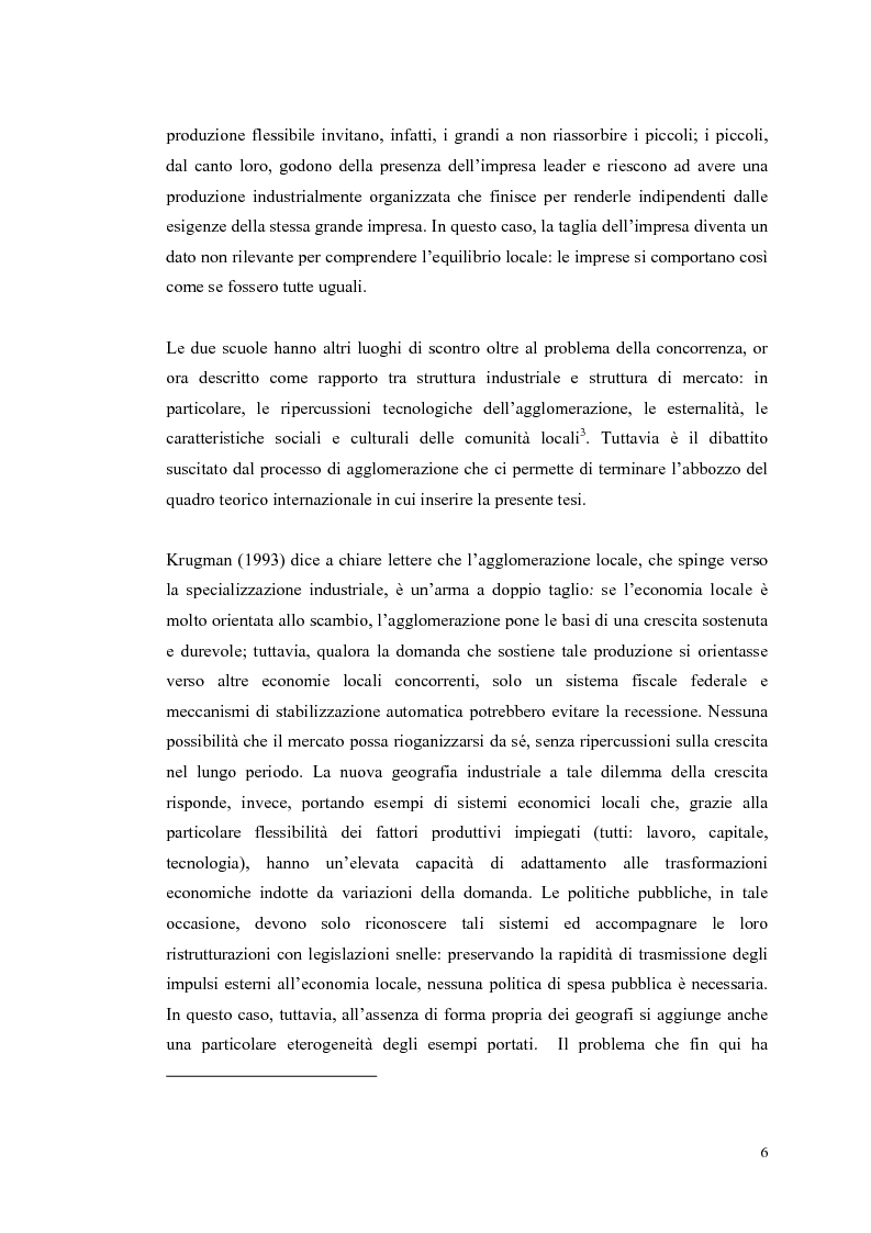 Anteprima della tesi: I distretti industriali: un confronto tra l'esperienza italiana e quella francese, Pagina 3