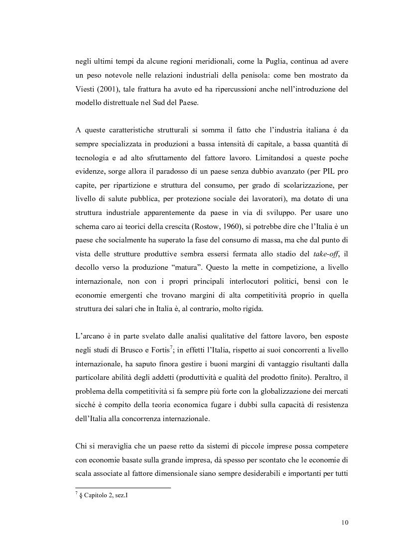Anteprima della tesi: I distretti industriali: un confronto tra l'esperienza italiana e quella francese, Pagina 7