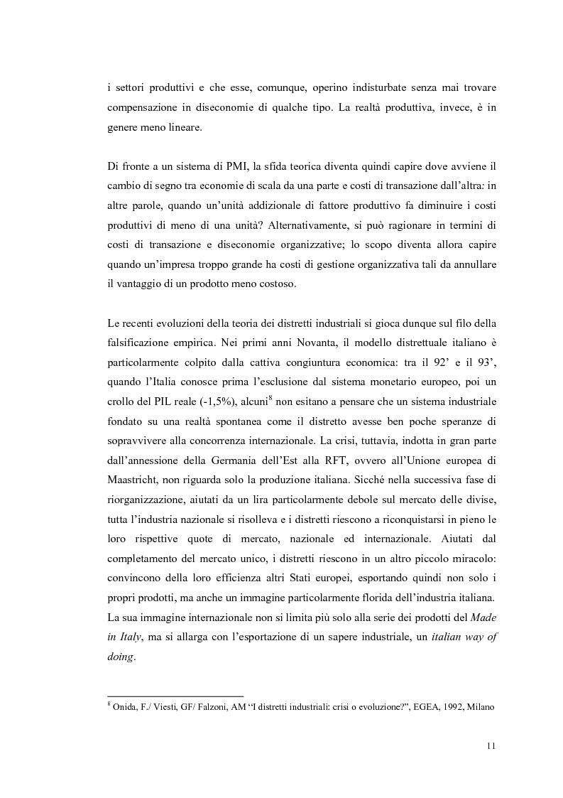 Anteprima della tesi: I distretti industriali: un confronto tra l'esperienza italiana e quella francese, Pagina 8