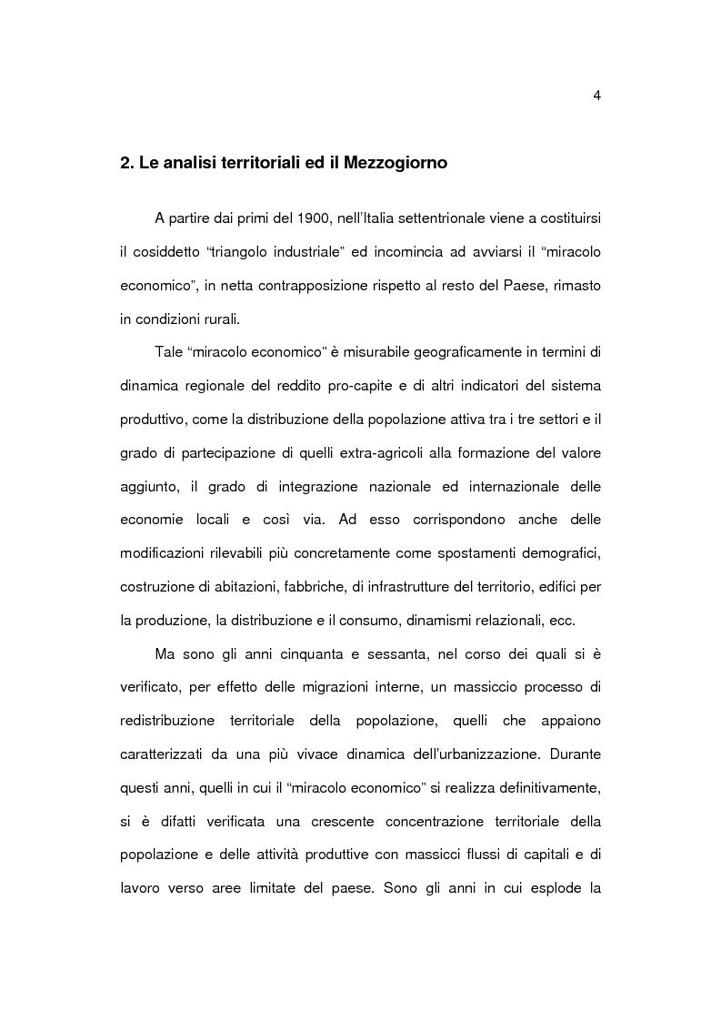 Anteprima della tesi: Analisi socioeconomica e demografica dei 4 grandi comuni del Mezzogiorno, Pagina 4