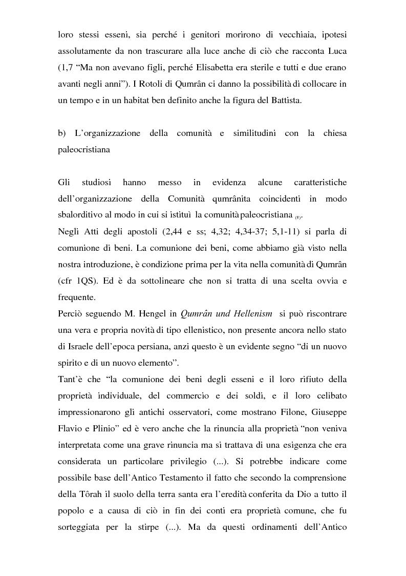 Anteprima della tesi: Il problema dei rapporti tra i testi di Qumran e il Vangelo di Giovanni: un bilancio alla luce degli studi più recenti, Pagina 10