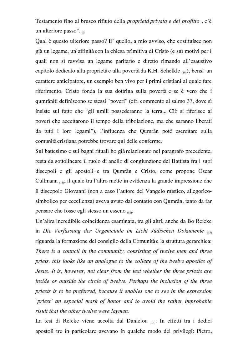 Anteprima della tesi: Il problema dei rapporti tra i testi di Qumran e il Vangelo di Giovanni: un bilancio alla luce degli studi più recenti, Pagina 11